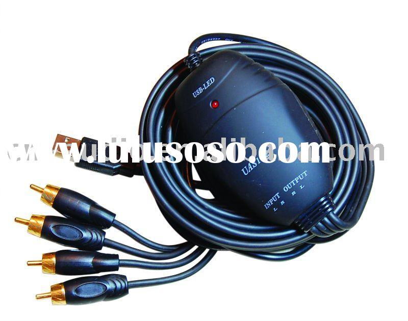 USB Audio Interface CABLES USB to RCA U4R