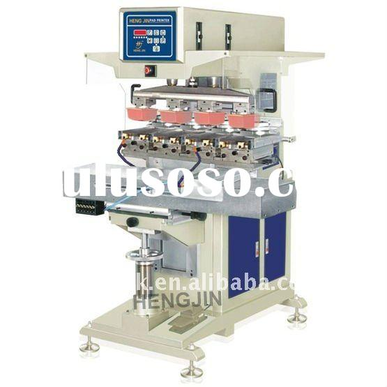 V HP-300DXY four colors pnuematic shuttle pad printing machine