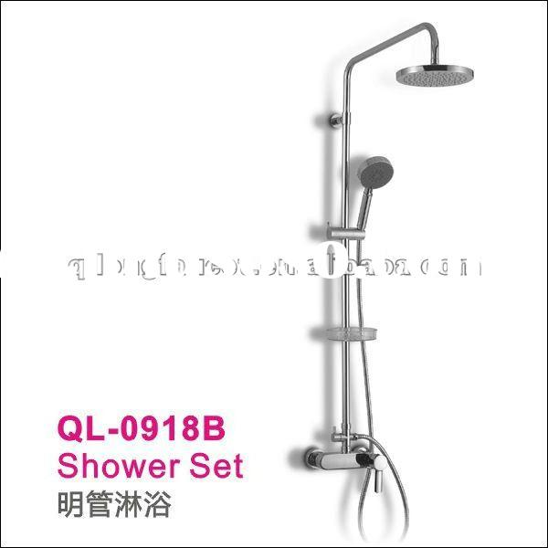 Wall Mounted Bathroom Tub Rain Shower Faucet Set(full shower set,mixer)