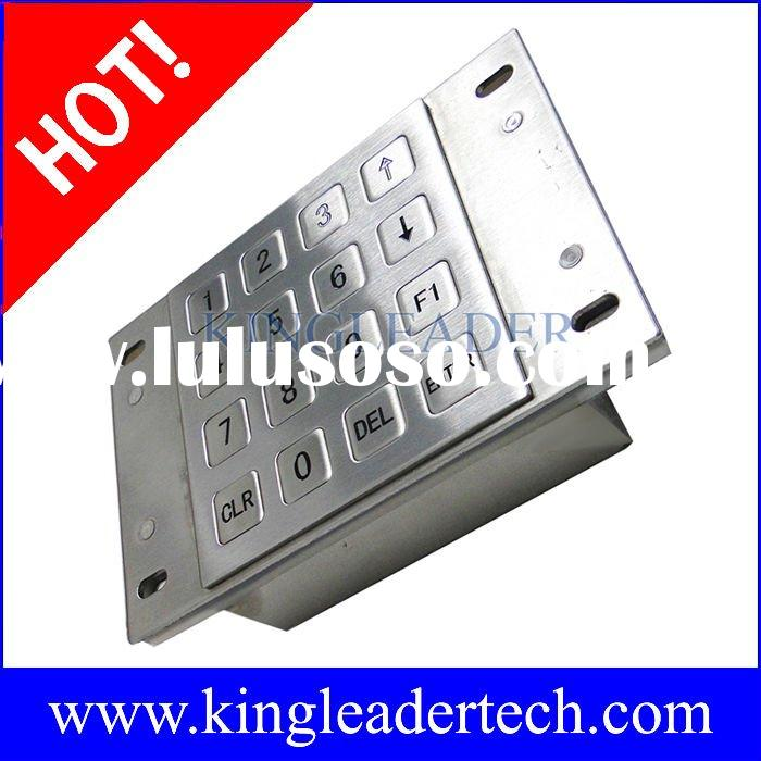 Waterproof,vandalproof metal keypad with 16 shor-travel keys