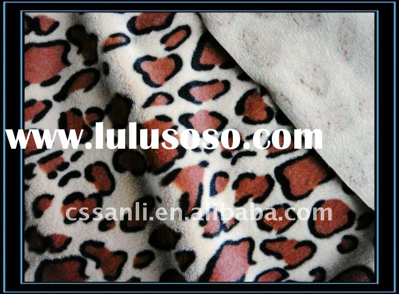 Wholesale 100%Polyester PV Fabric Leopard Print