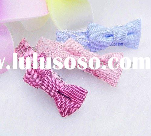 Wholesale bow fabrics Hair barrette for baby girl toddler