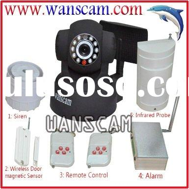 Wireless Alarm System with IP Camera and Sensors