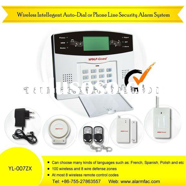 Wireless home Phone Line Security Alarm System (YL-007ZX)