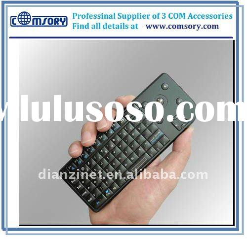 Wireless remote keyboard remote qwerty keyboard 2.4G wireless keyboard Mouse Laser pointer for iPhon