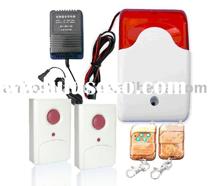 Wireless siren with strobe light Emergency Button wireless panic button wireless remote control alar