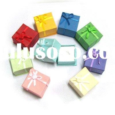 Wonderful ! Silk ribbon BOW-TIE Christmas gift box earring pendant box