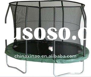 XINAO newest style mini oval kids outdoor trampoline with safety net