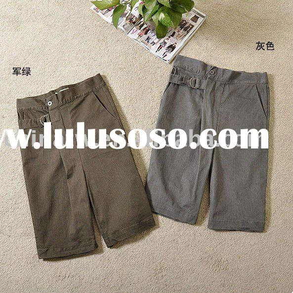 [cl2109] wholesale and retail Color Grey and Army Green, 2011 fashion casual cotton women short pant