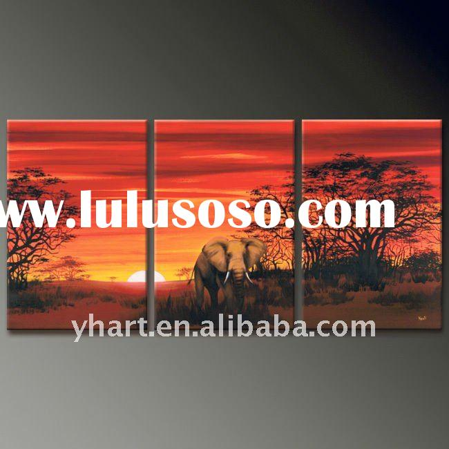 african landscape canvas oil painting