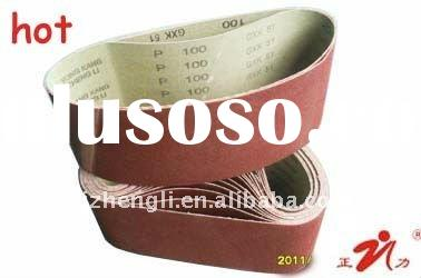 aluminum oxide abrasive belt GXK51 for marble,wood,stainless steel,granite