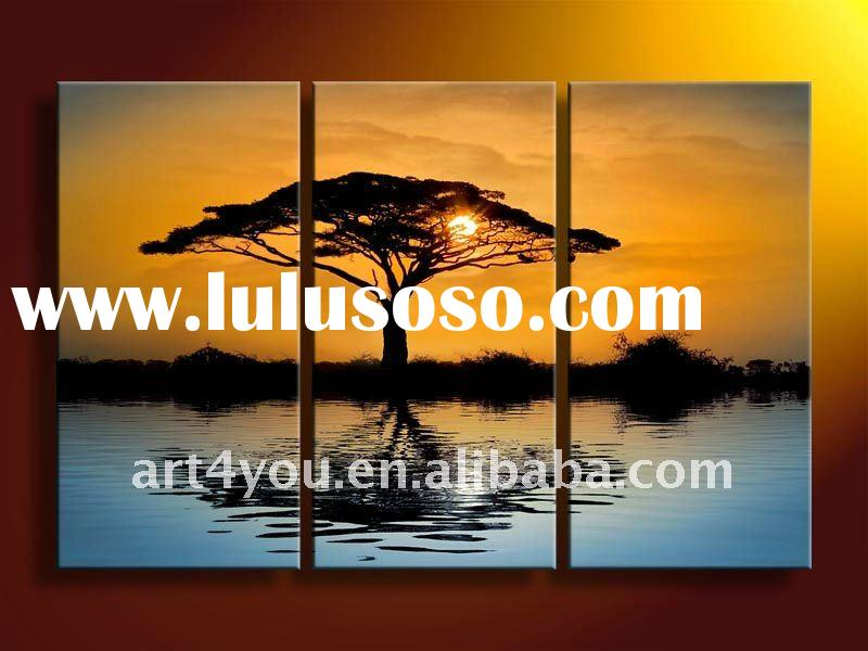 attractive sunset decorative art paintings