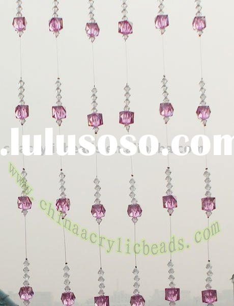 beaded curtain, crystal beaded strand, beaded garland