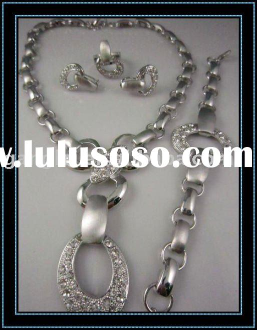 bridal collection jewelry sets/fashion silver plated jewelry set