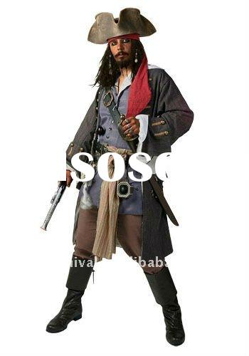 bsmc-1210 authentic caribbean pirate halloween adult costume