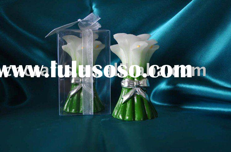 calla lily wedding candle favor,flower candle