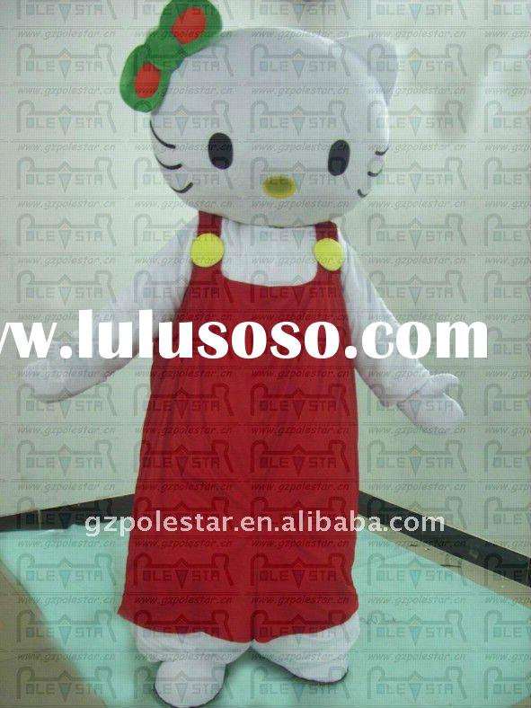 character hello kitty mascot costumes red pants