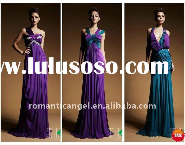 chiffon elie saab floor length purple formal evening dress
