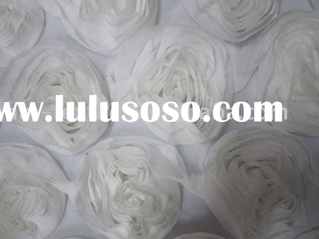 chiffon embroidered flower trim fabric