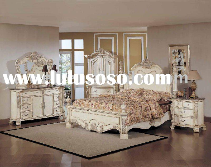 classic antique white bedroom Furniture B6621 model