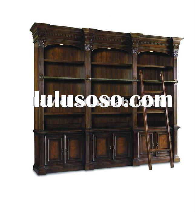 classic hand craft antique wooden carved bookcase