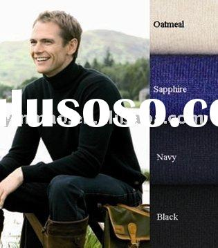 classic style ,Men's cashmere pullover,polo neck sweater,fishing sweater
