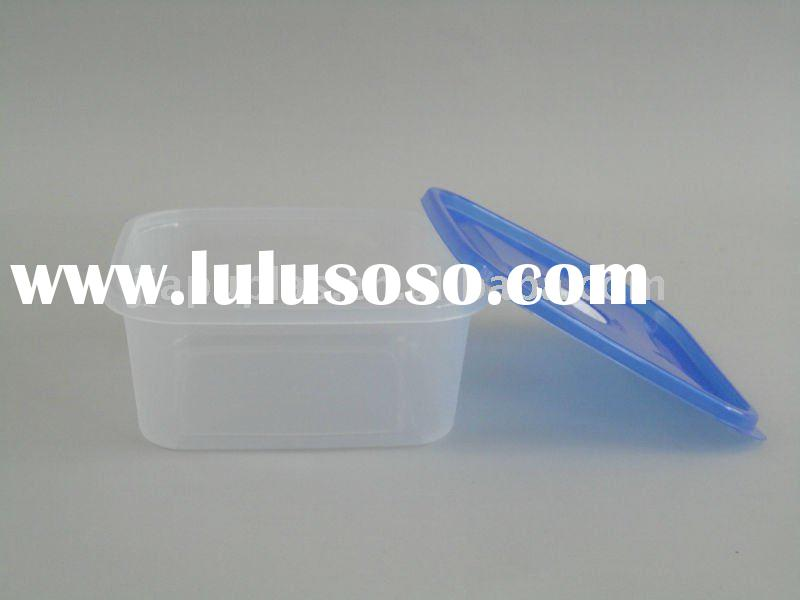 clear hinged lid plastic boxes -0292