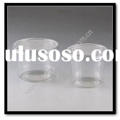clear transparent plastic nut container cup and lid
