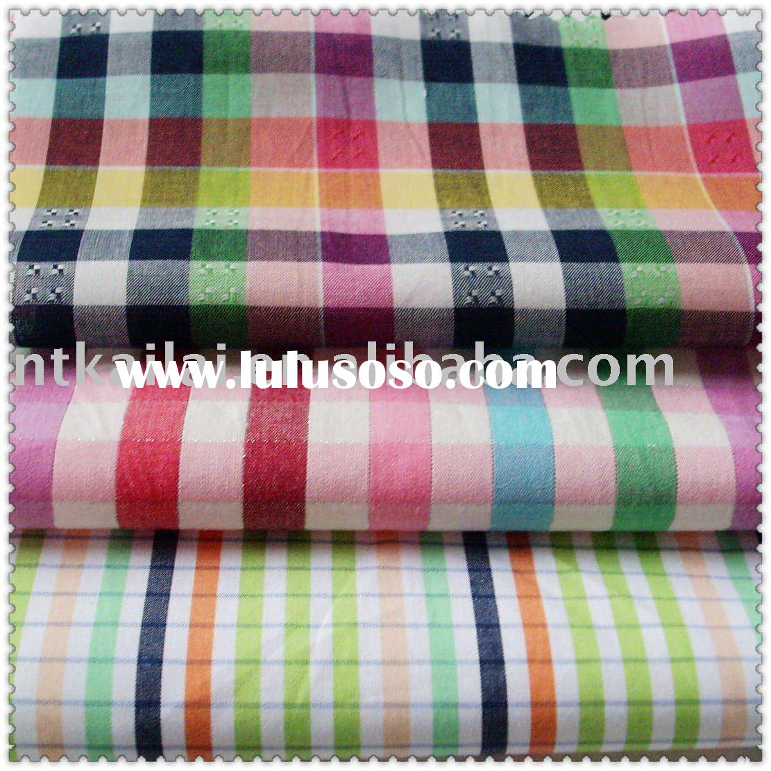 cotton fabric/yarn dyed