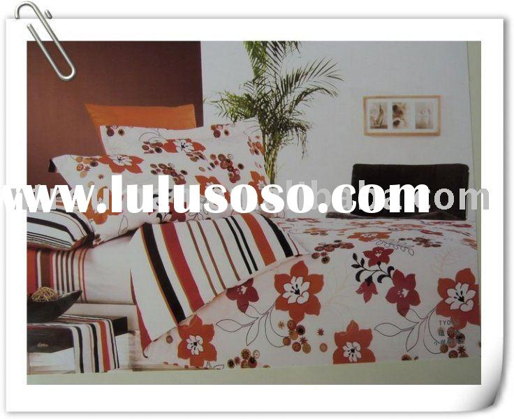cotton/polyester printed bedding set