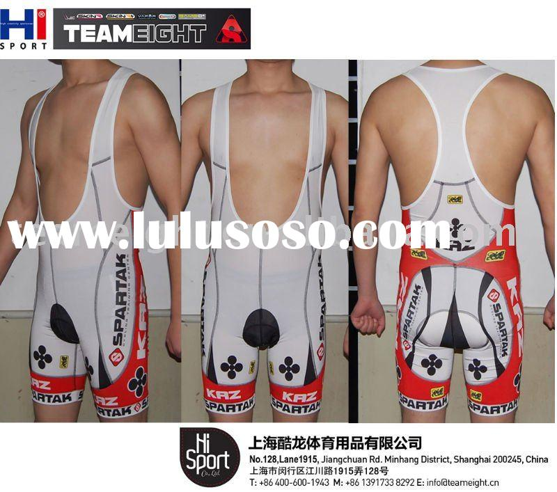 customized sublimation print 2012 pro team cycling bibshort
