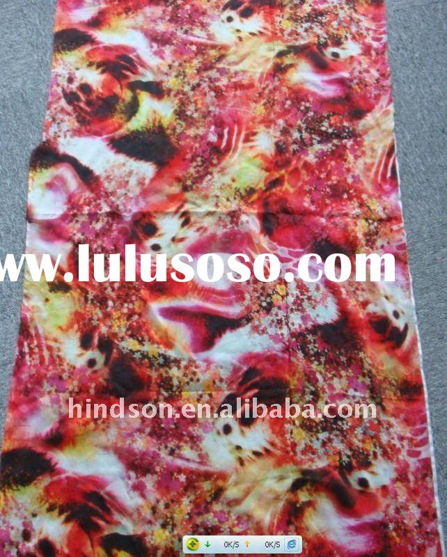 digital print cotton silk blend fabric