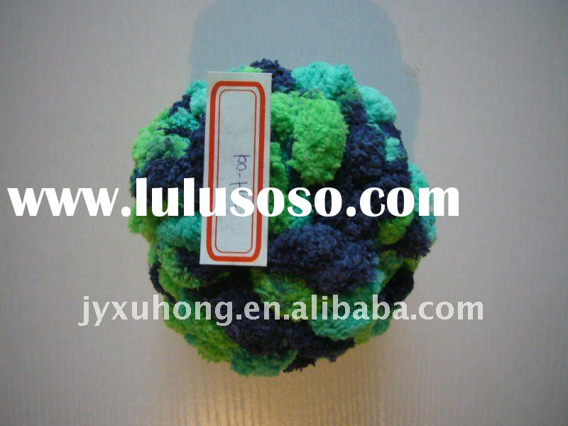 dyed polyester pompom apple-ball knitting yarn