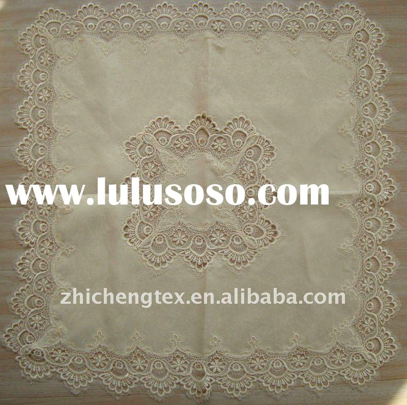 fancy embroidery polyester lace tablecloth