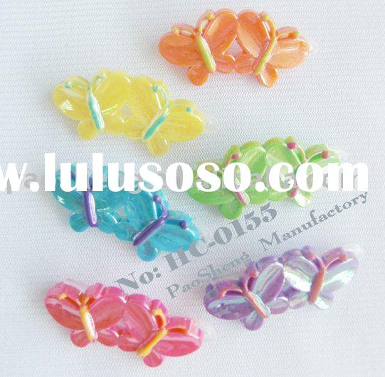 fashion plastic butterfly hair barrettes/cute children hair clip