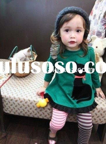 fashion style baby girls long sleeve t-shirt/wholesale,retail,OEM service/2-10 years/100% cotton