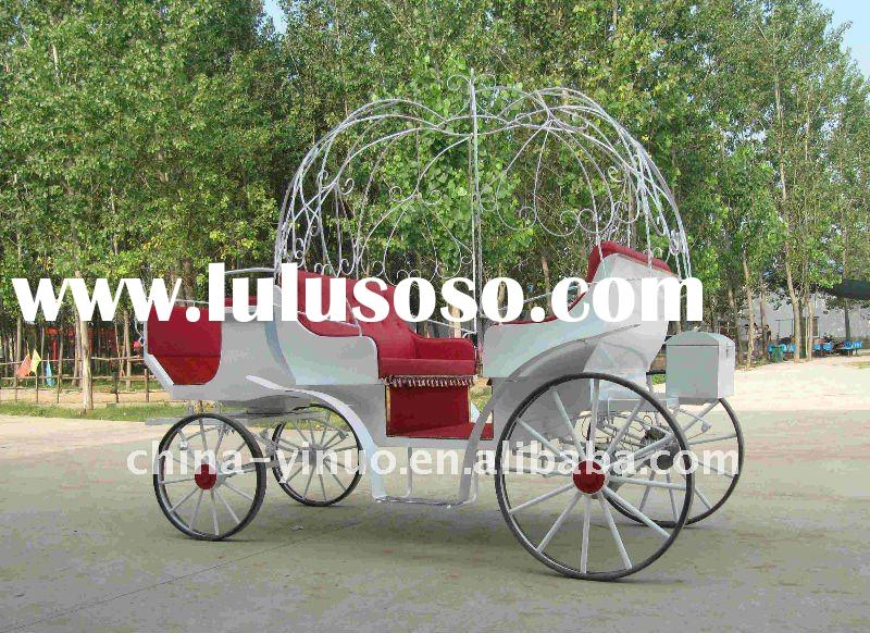 fashionable romantic horse carriage wedding horse carriage