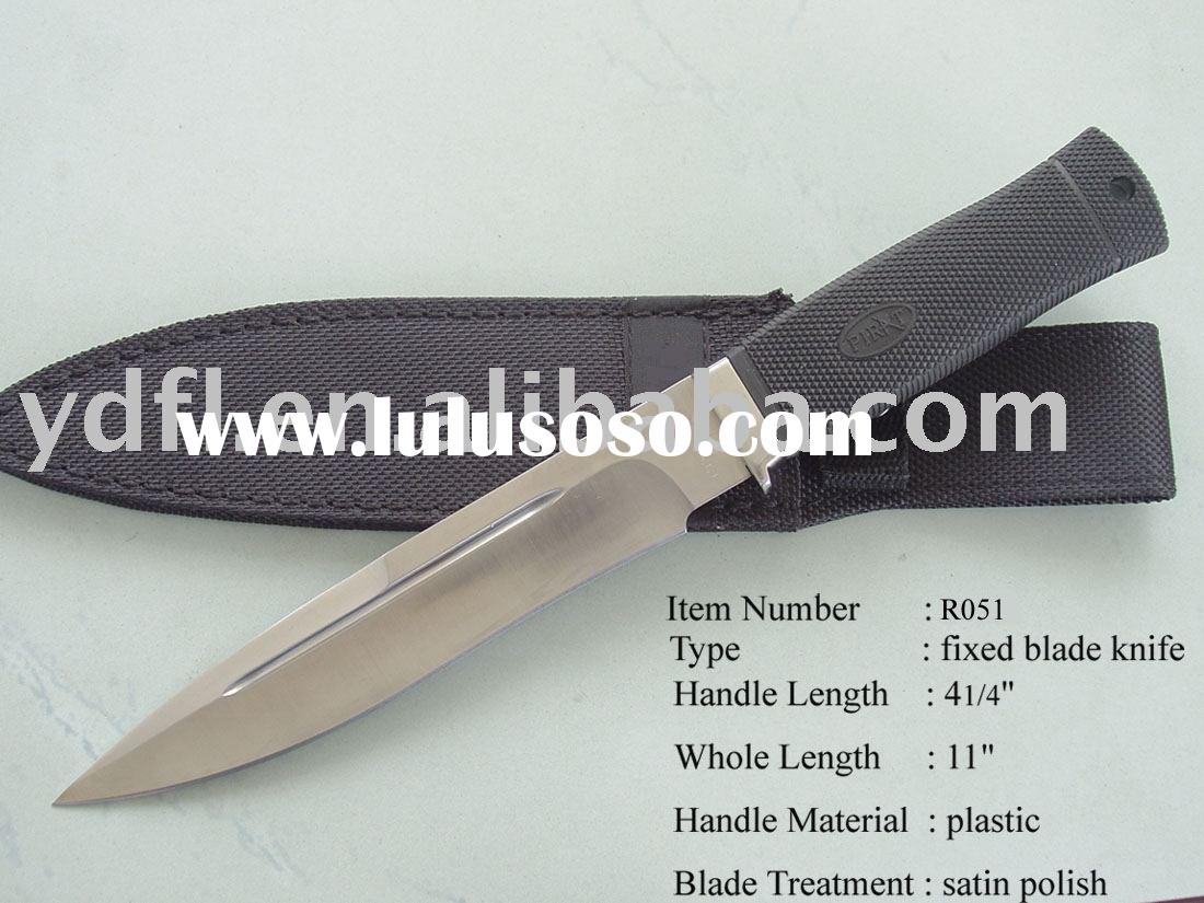 fixed blade knife with good plastic handle