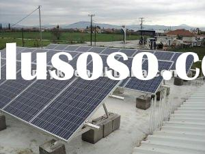 flat roof solar panel mounting system