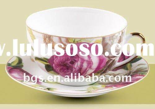 flower design chinese tea set