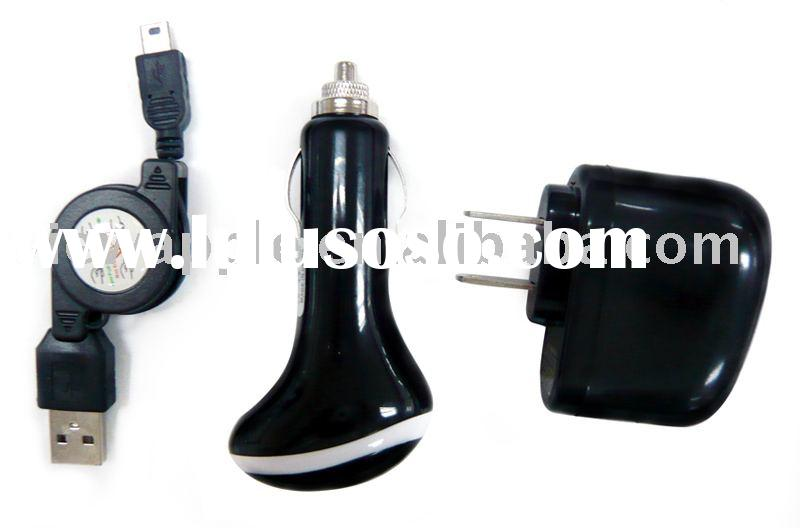 for blackberry 3-in-1 charger kit Travel Charger Car Charger USB Cable for blackberry