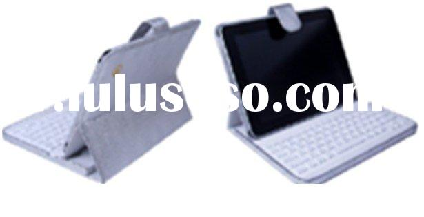 for iPad folder leather case with bluetooth Keyboard