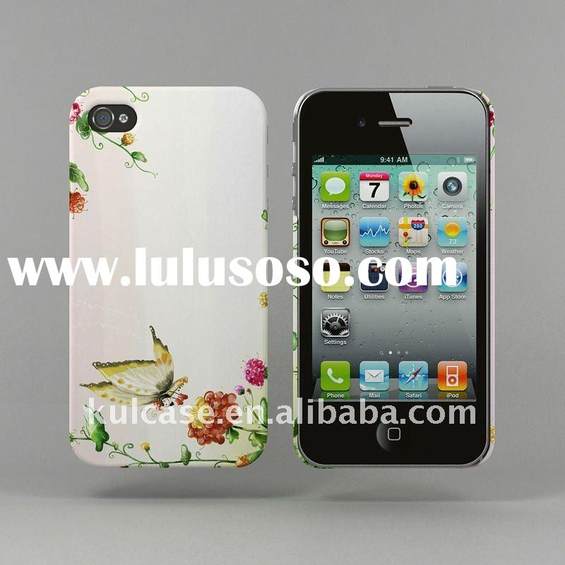for iPhone 4 decal print hard back cover case
