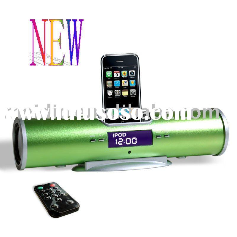 for ipod docking station(green)+FM radio+remote control
