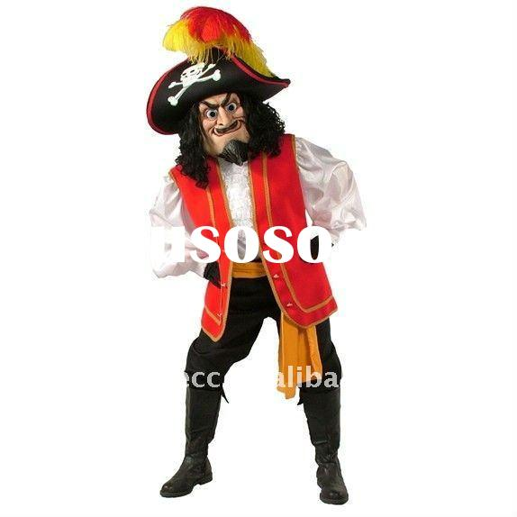 fur pirate mascot costume, animal mascot costume, fancy dress costume