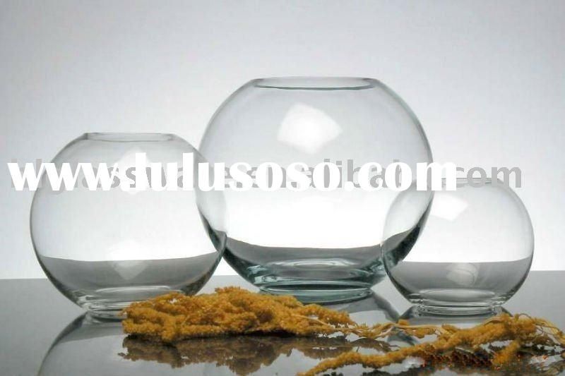 glass clear vase(fish bowl)