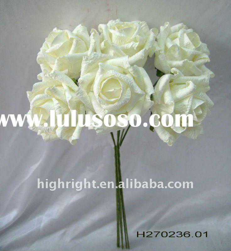 handmade artificial paper flower pick for home decoration