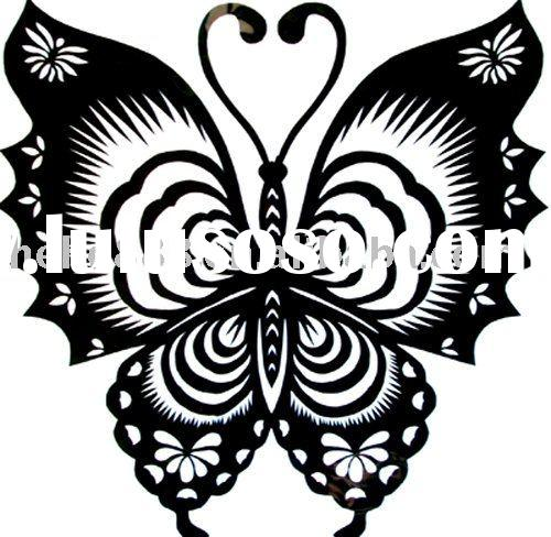 handmade butterfly paper cutting