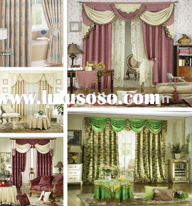 high quality fashion curtain/polyester curtain sets