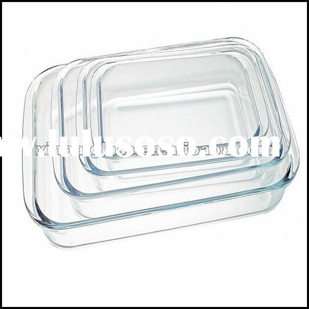 high quality pyrex glass baking tray